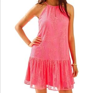 Lilly Pulitzer Pineapple Knit Lace Isabeau Dress